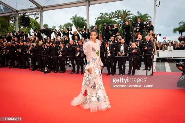 Liya Kebede attends the screening of Pain And Glory during the 72nd annual Cannes Film Festival on May 17 2019 in Cannes France