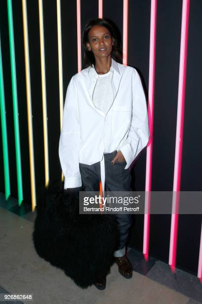 Liya Kebede attends the Sonia Rykiel show as part of the Paris Fashion Week Womenswear Fall/Winter 2018/2019 on March 3 2018 in Paris France