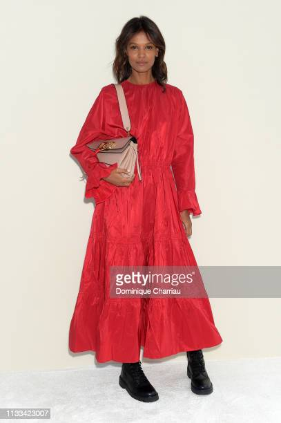 Liya Kebede attends the Valentino show as part of the Paris Fashion Week Womenswear Fall/Winter 2019/2020 on March 03, 2019 in Paris, France.