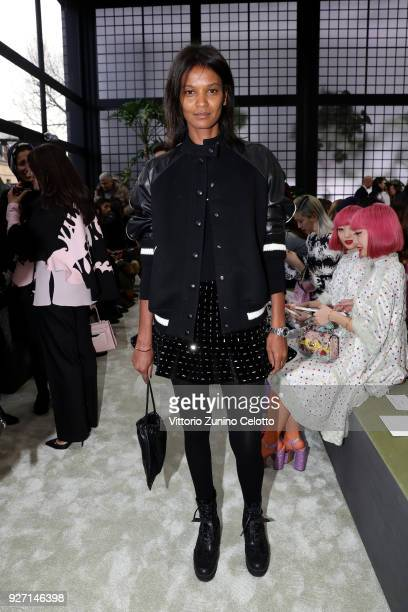 Liya Kebede attends the Valentino show as part of the Paris Fashion Week Womenswear Fall/Winter 2018/2019 on March 4 2018 in Paris France