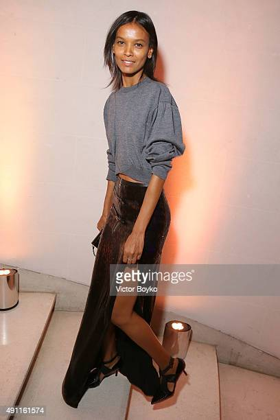 Liya Kebede attends Vogue 95th Anniversary Party on October 3 2015 in Paris France