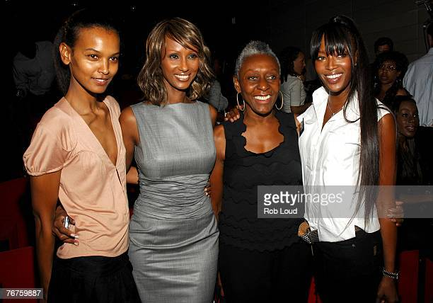 Liya Kebede Iman Bethann Hardison and Naomi Campbell pose at the Blacks In Fashion panel discussion at the Bryant Parl Hotel on September 14 2007 in...