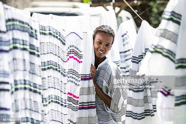 Liya Kebede is photographed for Paris Match on May 30 2014 in AddisAbaba Ethiopia