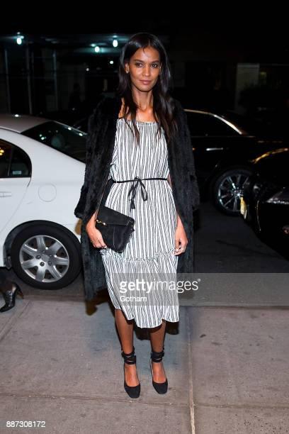 Liya Kebede is seen in Midtown on December 6 2017 in New York City