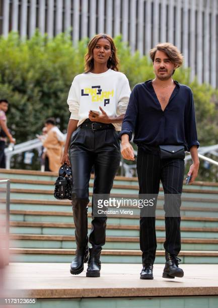Liya Kebede is seen outside Longchamp during New York Fashion Week September 2019 on September 07 2019 in New York City