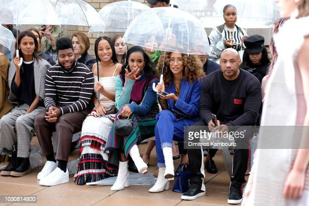 Liya Kebede Khalid Kelly Rowland and Elaine Welteroth attend the 31 Phillip Lim front row during New York Fashion Week at New Design High School on...