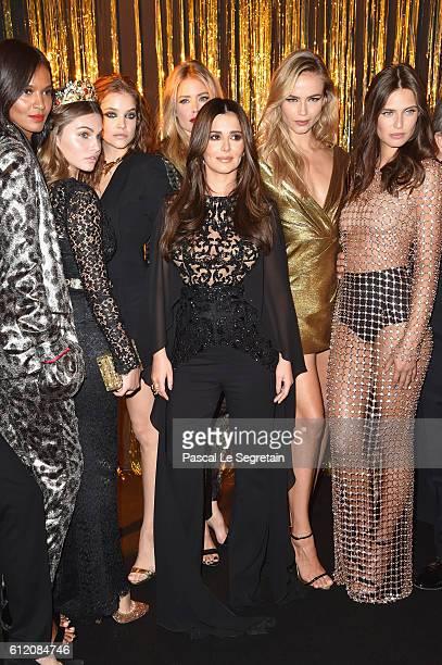 Liya Kebede Thylane Blondeau Barbara Palvin Doutzen Kroes Cheryl Cole Natasha Poly Bianca Balti attend the Gold Obsession Party L'Oreal Paris...