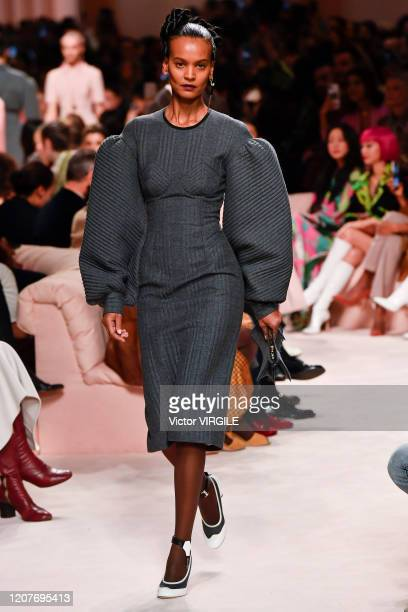 Liya Kebede walks the runway during the Fendi Ready to Wear Fall/Winter 2020-2021 fashion show as part of Milan Fashion Week on February 20, 2020 in...