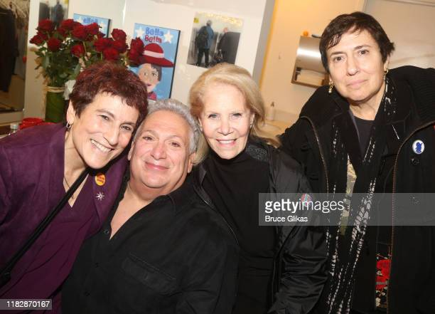 Liz Abzug Harvey Fierstein Daryl Roth and Eve Abzug pose backstage at the opening night of the new Manhattan Theatre Club play Bella Bella at MTC...