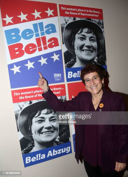 Liz Abzug poses at the opening night of the new Manhattan Theatre Club play Bella Bella at MTC Stage 1 Theatre at City Center on October 22 2019 in...