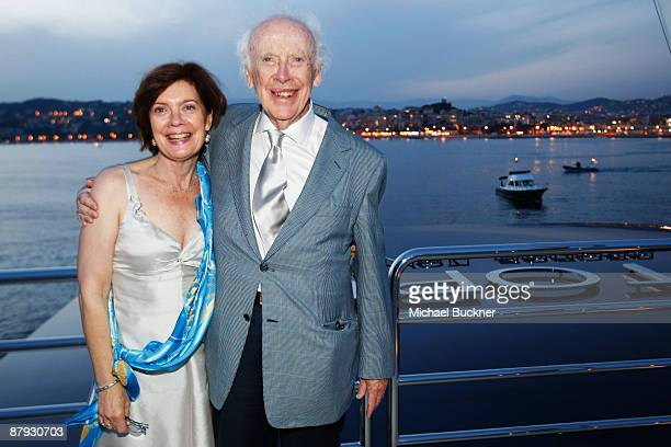 Liz and Dr Jim Watson attend the Paul Allen Hosts VIP Party in honor of Dr Jim Watson at the Octupus Boat during the 62nd International Cannes Film...