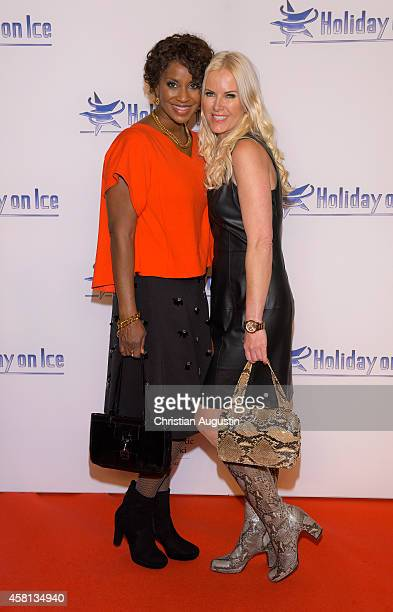 Liz Baffoe and Anna Heesch attend Holiday on Ice 'Passion' Gala at Hotel Atlantic on October 30 2014 in Hamburg Germany