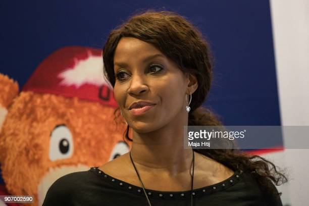 Liz Baffoe attends a press conference as Cologne is Announced As Host City For Women's DFB Cup Final For Another Five Years on January 19 2018 in...