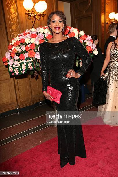 Liz Baffoe during the Semper Opera Ball 2016 at Semperoper on January 29 2016 in Dresden Germany