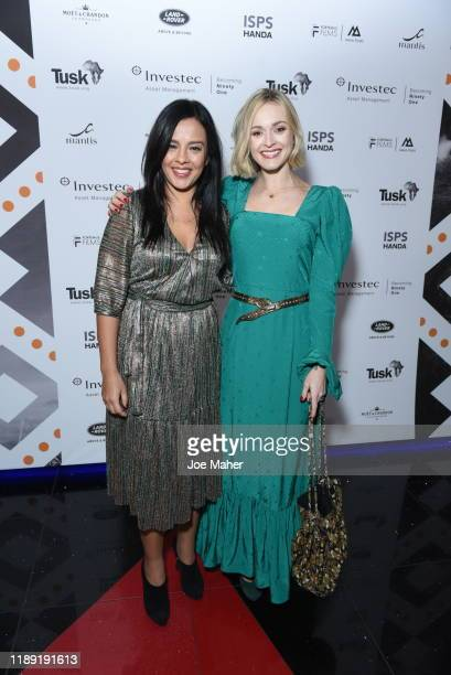 Liz Bonnin and Ferne Cotton attend the Tusk Conservation Awards ceremony at Empire Cineworld on November 21 2019 in London England