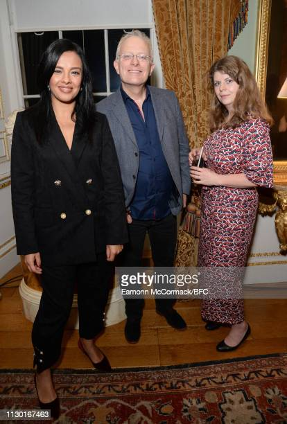 Liz Bonnin and guests attend the BFC x BBC Earth x Mother of Pearl Present Positive Fashion during London Fashion Week February 2019 at the Spencer...