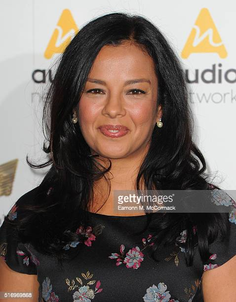 Liz Bonnin arrives for The Royal Television Society Programme Awards at The Grosvenor House Hotel on March 22 2016 in London England