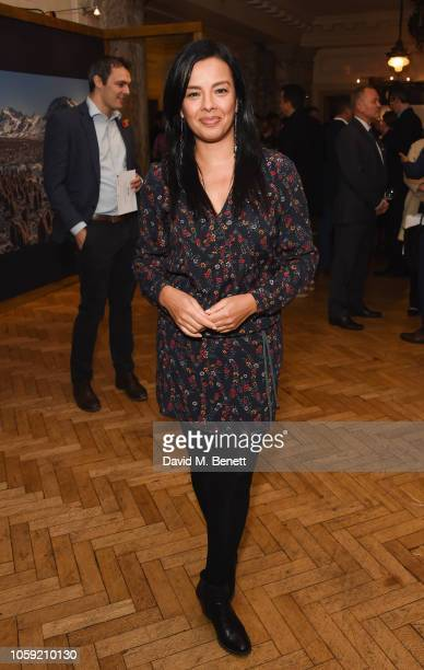 Liz Bonnin at Westminster Central Hall for Netflixs Our Planet announcement at WWFs State of the Planet Address on November 8 2018 in London England