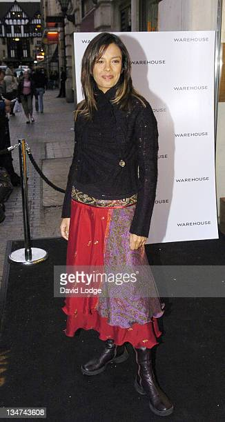 Liz Bonnin during Warehouse Store ReLaunch Party September 28 2005 at Argyll Street in London Great Britain