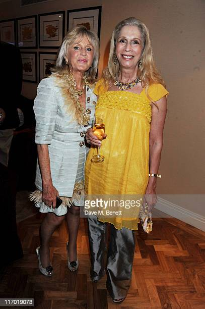 Liz Brewer and Lady Colin Campbell attend Liz Brewer's 'Ultimate Guide To Party Planning Etiquette' Book Launch Party on June 18 2011 at the Westbury...