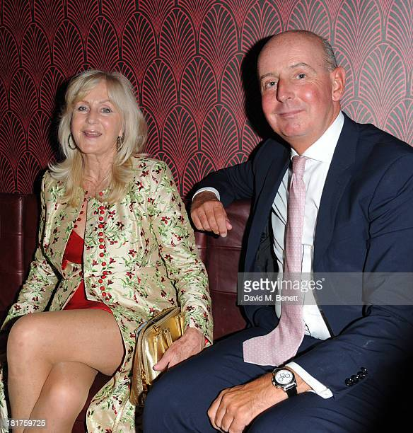 Liz Brewer and Mark Law attends the launch of Ruski's Tavern on September 24 2013 in London England