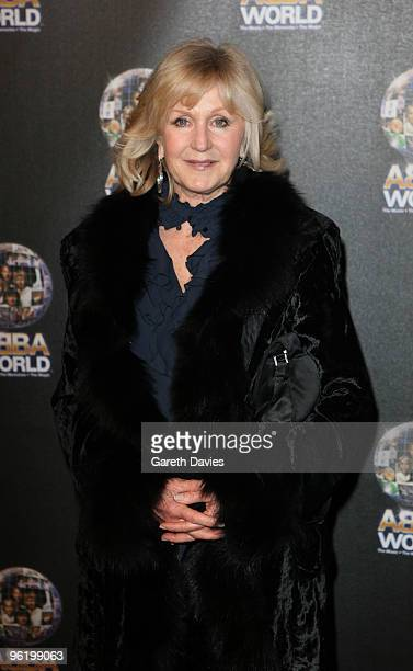 Liz Brewer arrives at the ABBAWORLD Exhibition at Earls Court on January 26 2010 in London England