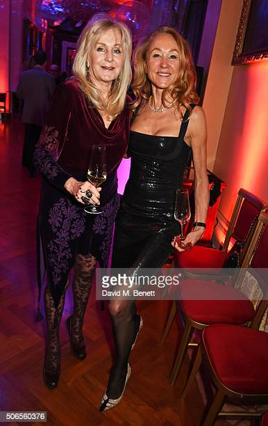 Liz Brewer attends Lisa Tchenguiz's birthday party on January 23 2016 in London England