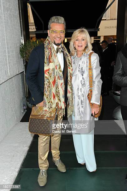 Liz Brewer attends the launch party of Smallbone Kelly Hoppen at The Collection on September 24 2012 in London England