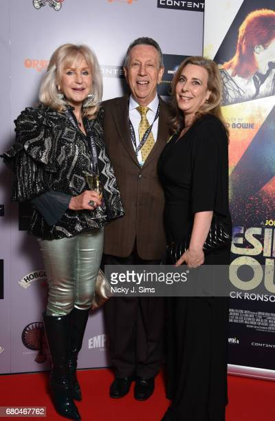 Liz Brewer Eliot M Cohen and Joanne Cohen attend the UK Premiere of Jon Brewer's 'BESIDE BOWIE The Mick Ronson Story' at The Mayfair Hotel on May 08...