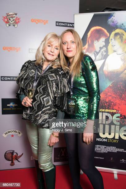 Liz Brewer Tallulah Rendall attend the UK Premiere of Jon Brewer's 'BESIDE BOWIE The Mick Ronson Story' at The Mayfair Hotel on May 08 2017 in London...