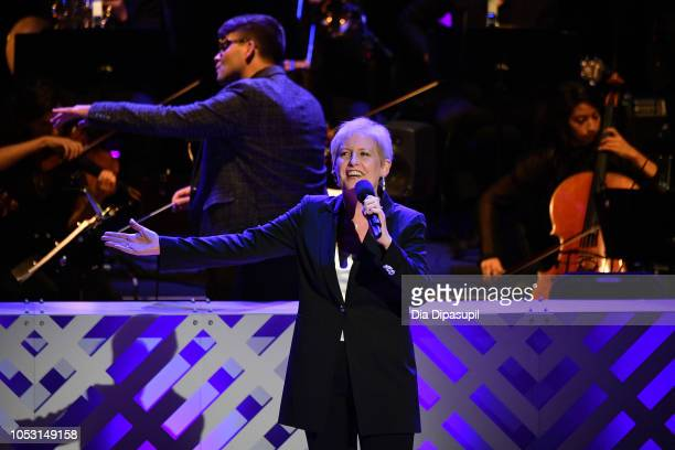 Liz Callaway performs on stage during Lincoln Center Fall Gala at Alice Tully Hall on October 24 2018 in New York City