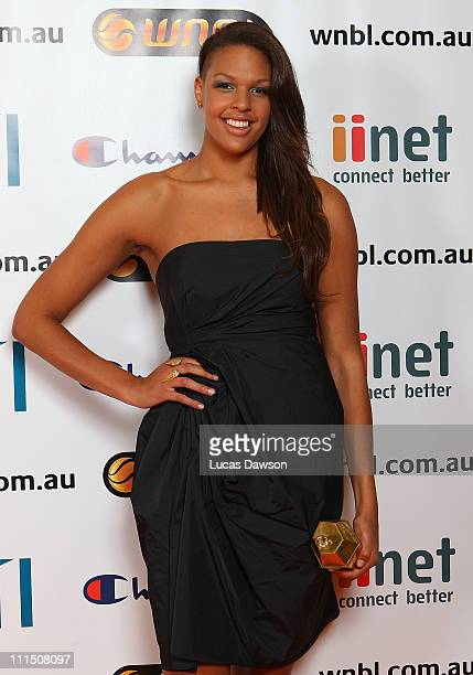 Liz Cambage arrives at the 2011 NBL/WNBL Awards Night at Crown Palladium on April 4 2011 in MelbourneAustralia