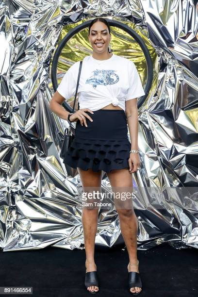 Liz Cambage attends the NGV Triennial Opening Night at NGV International on December 13 2017 in Melbourne Australia