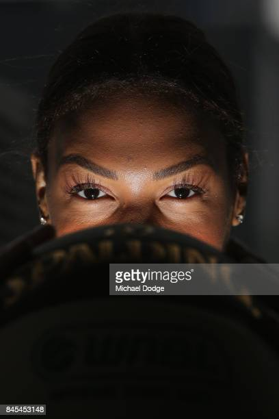 Liz Cambage Melbourne Boomers poses during the 2017/18 NBL and WNBL Season Launch at Crown Towers on September 11 2017 in Melbourne Australia