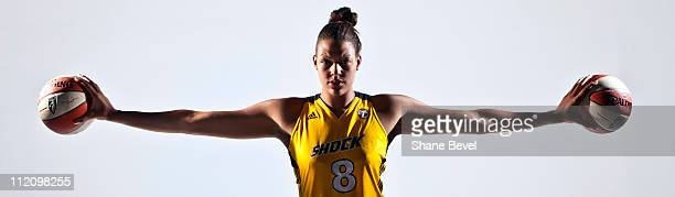 Liz Cambage poses for a portrait a day after being signed to the Tulsa Shock April 12 2011 in Tulsa Oklahoma NOTE TO USER User expressly acknowledges...