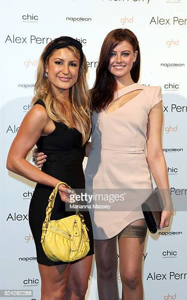 Liz Cantor and Model April Rose Pengilly arrive for the Alex Perry Spring/Summer 2010 show during Rosemount Australian Fashion Week
