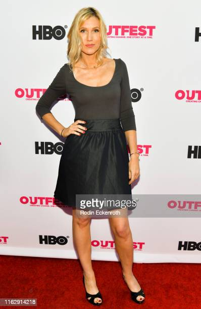 Liz Cardenas attends the Outfest Los Angeles LGBTQ Film Festival Opening Night Gala premiere of Circus Of Books at Orpheum Theatre on July 18 2019 in...
