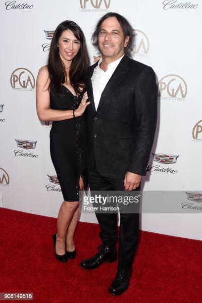 Liz Chavez and Nathan Ross attend the 29th Annual Producers Guild Awards at The Beverly Hilton Hotel on January 20 2018 in Beverly Hills California