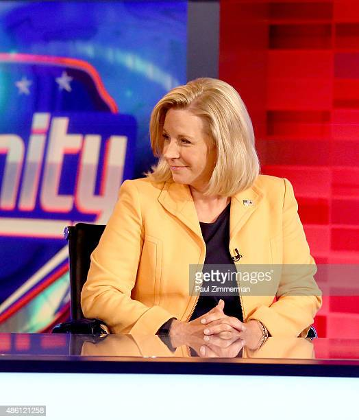 Liz Cheney visits FOX News Channel's 'Hannity' regarding their new book at FOX Studios on August 31 2015 in New York City