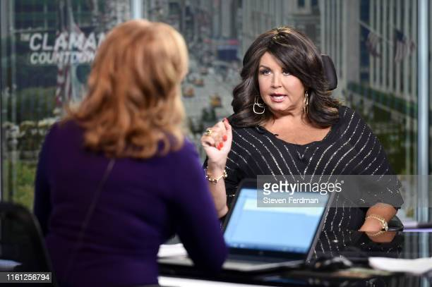 Liz Claman interviews Abby Lee Miller on the set of 'The Claman Countdown' at Fox Business Network Studios on July 10 2019 in New York City