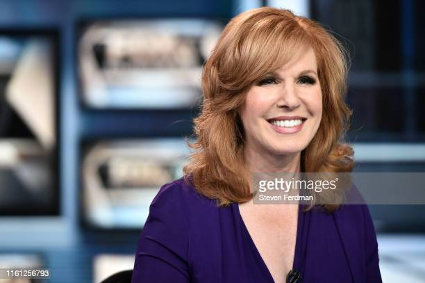 Liz Claman is seen on the set of 'The Claman Countdown' at Fox Business Network Studios on July 10 2019 in New York City