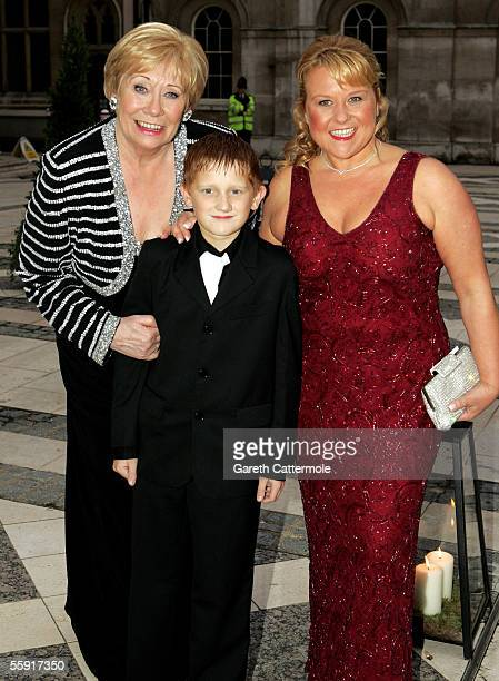 Liz Dawn Sam Aston and guest arrive at ITV's 50th Anniversary Royal Reception at the Guildhall on October 13 2005 in London England Queen Elizabeth...