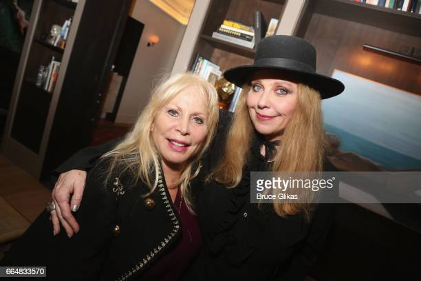 Liz Derringer and Bebe Buell pose at the HGU New York's 1905 Lounge at the HGU New York Hotel on April 4, 2017 in New York City.