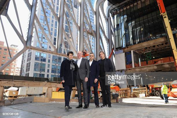 Liz Diller Frank McCourt Alex Poots and David Rockwell pose as The Shed announces the first seven commissions of its 2019 inaugural season on March 6...
