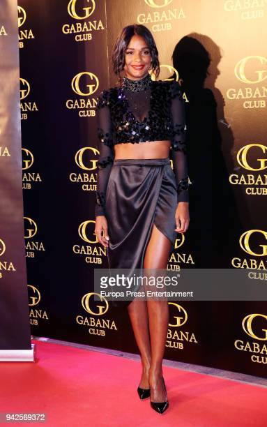 Liz Emiliano attends the 'Alejandra Rubio's birthday photocall' at Gabana disco on April 5 2018 in Madrid Spain