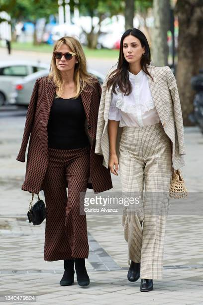 Liz Foy and Sassa de Osma attend the Jorge Vazquez fashion show during Mercedes Benz Fashion Week Madrid September 2021 at Mandarin Ritz Hotel on...