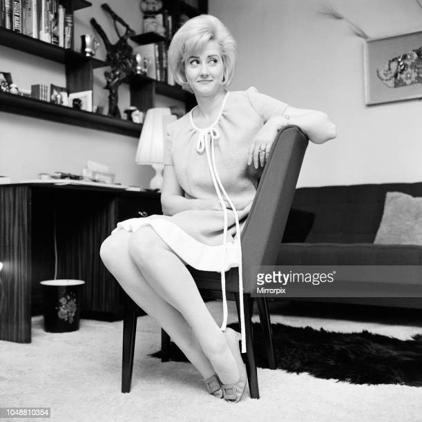 Liz Fraser English actress pictured at home April 1967
