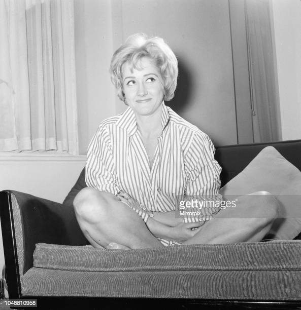 Liz Fraser, English actress, pictured at home of Donald Zec Daily Mirror Journalist, London, Friday 15th March 1963. Donald Zec Feature Interview.
