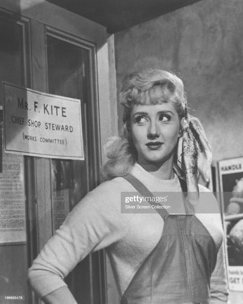 Liz Frazer as as Cynthia Kite in 'I'm All Right Jack', directed by John Boulting, 1959.