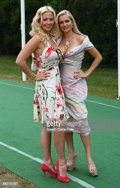 Liz Fuller and Anouska De Georgiou attend Polo In The Park Finals at The Hurlingham Club on June 6 2009 in London England